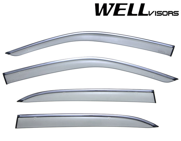 WELL VISOR LEXUS LS430 01-06 WITH CHROME TRIM