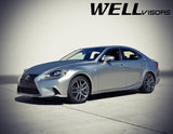 WELL VISORS LEXUS IS250 IS200T 14-18 WITH CHROME TRIM