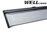 WELL VISORS SCION XB 04-07 WITH BLACK TRIM