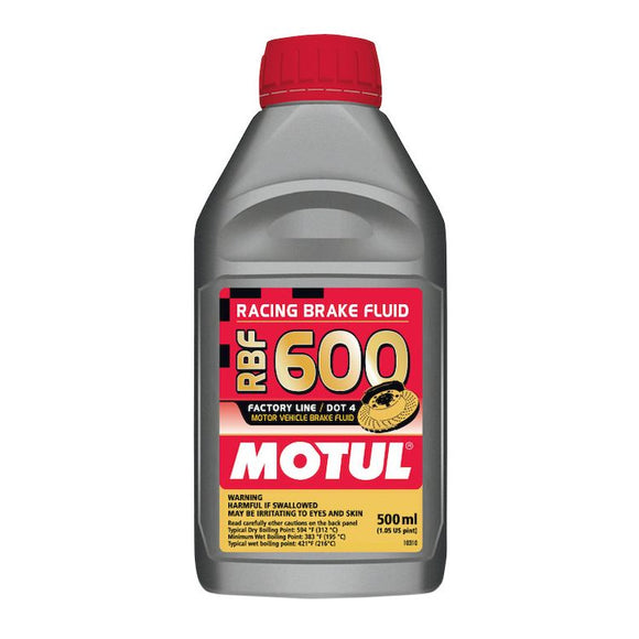 Motul RBF600 Dot 4 Race Brake Fluid (500mL/1.05 US Pint)