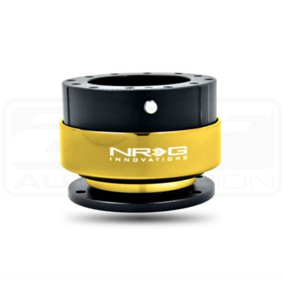 NRG S/W QUICK RELEASE: 2.0 GEN (BLACK/CHROME GOLD RING)