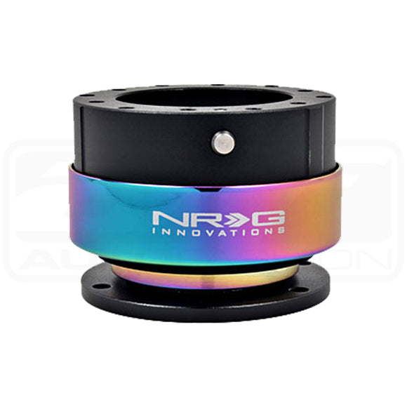 NRG S/W QUICK RELEASE: 2.0 GEN (BLACK BODY/NEO CHROME RING)