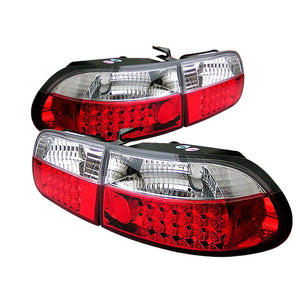 SPYDER AUTO Honda Civic 92-95 3DR HB LED Tail Lights - Red Clear