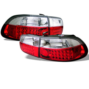 SPYDER AUTO Honda Civic 92-95 2/4DR LED Tail Lights - Red Clear