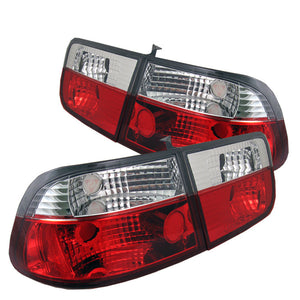 SPYDER AUTO Honda Civic 96-00 2Dr Coupe Crystal Tail Lights - Red Clear