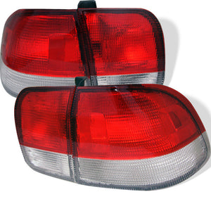SPYDER AUTO Honda Civic 96-98 4Dr Euro Style Tail Lights - Red Clear