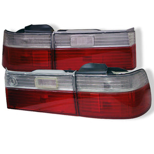 SPYDER AUTO Honda Accord 90-91 4Dr Euro Style Tail Lights- Red Clear