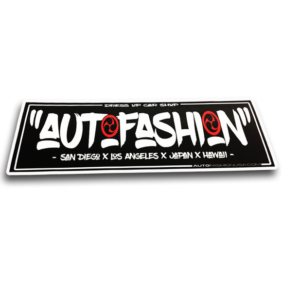 AF BRUSH BUMPER STICKER