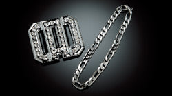 DAD MIRROR CRYSTAL CLIP CHAIN