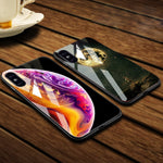 Luxury Space Case Tempered Glass for iPhone X 7 8 10 6 s XS + More