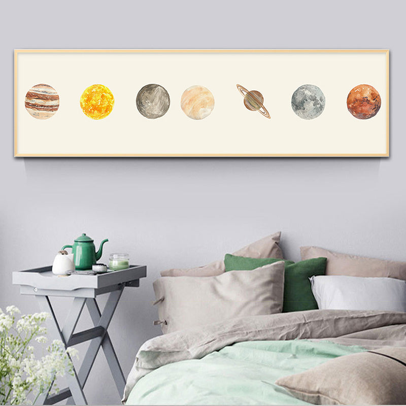 Art Painting Solar System Poster and Print Canvas