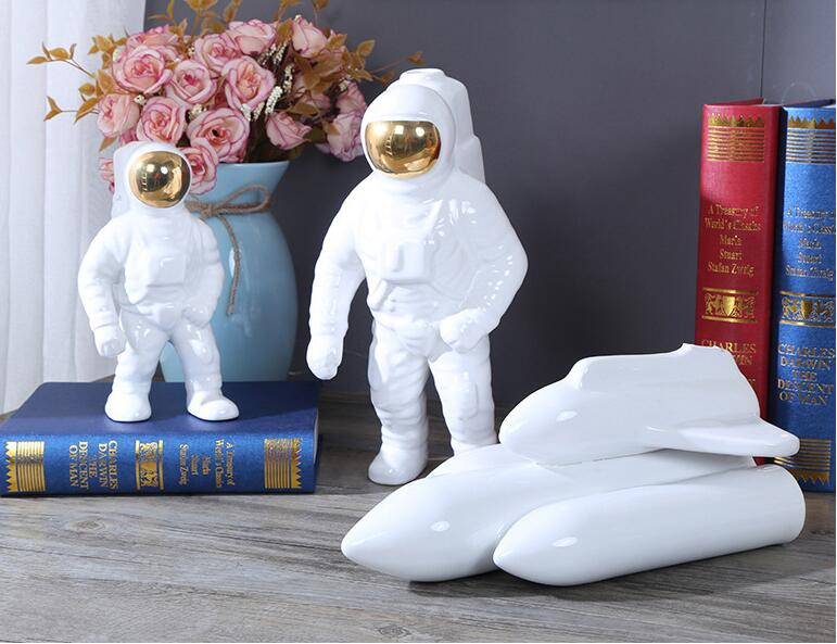 Space themed vases made from Ceramic