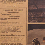 The Apollo 11 Moon Landing in the New York Times Vintage Poster