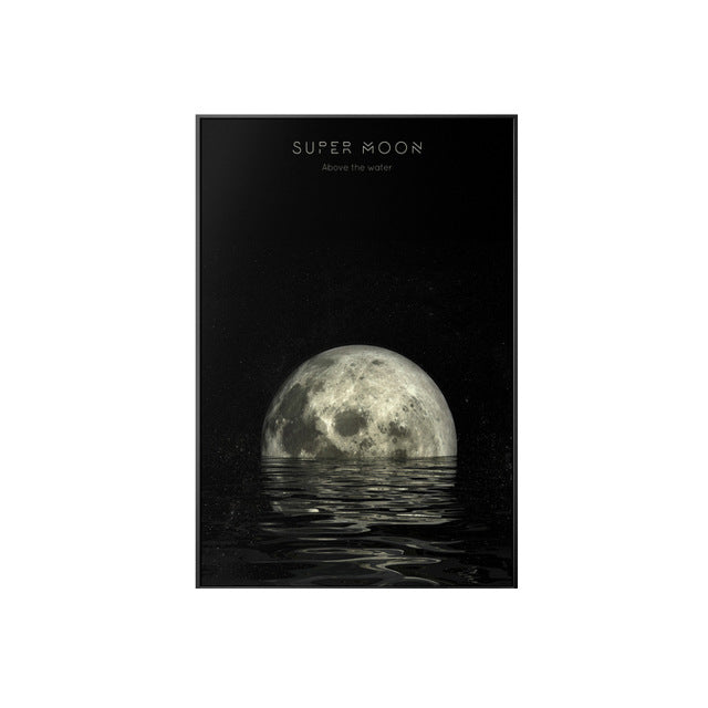 Moon Canvas Paintings and Posters