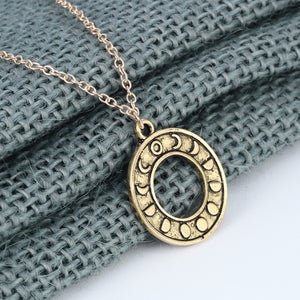 Moon Phase Necklace | Silver + Gold
