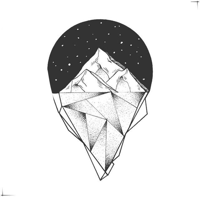Iceberg in Space Temporary Waterproof Tattoo