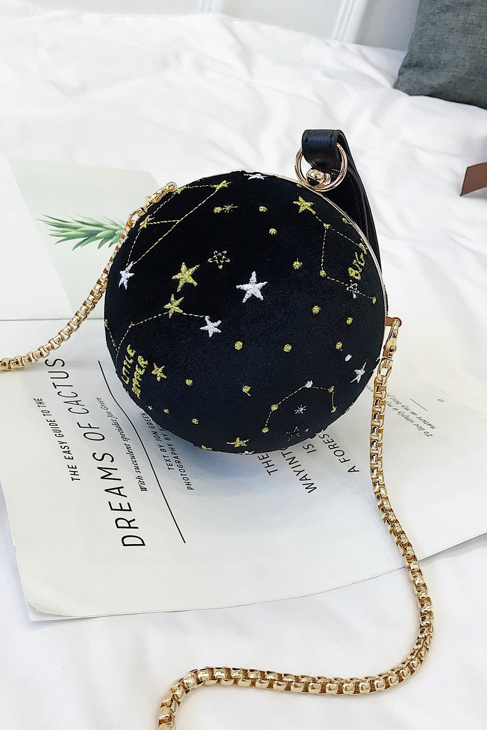 Starry Velvet Ball Bag