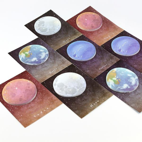 Unique Planet Sticky Notes | Memo Notes of the Moon, Earth, Venus and Sedna