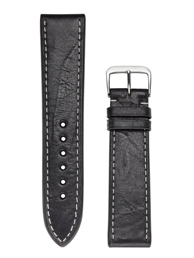 LEATHER LANE Handmade Vintage Hamburg black Watch Strap