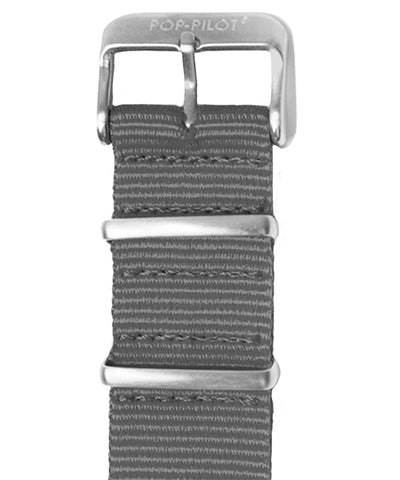 POP-PILOT® Natostrap, Cool Grey with brushed buckle
