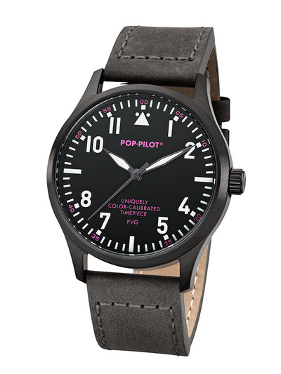 POP-PILOT®  PVG, 42mm ø LEATHER STRAP