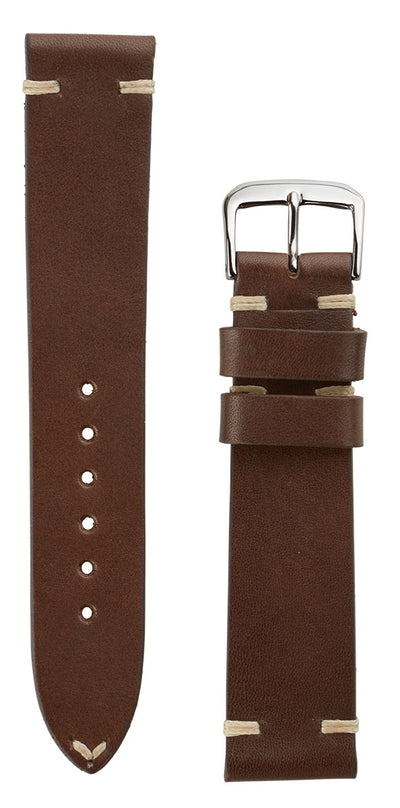 LEATHER LANE I VINTAGE LEATHER STRAPS DARK BROWN