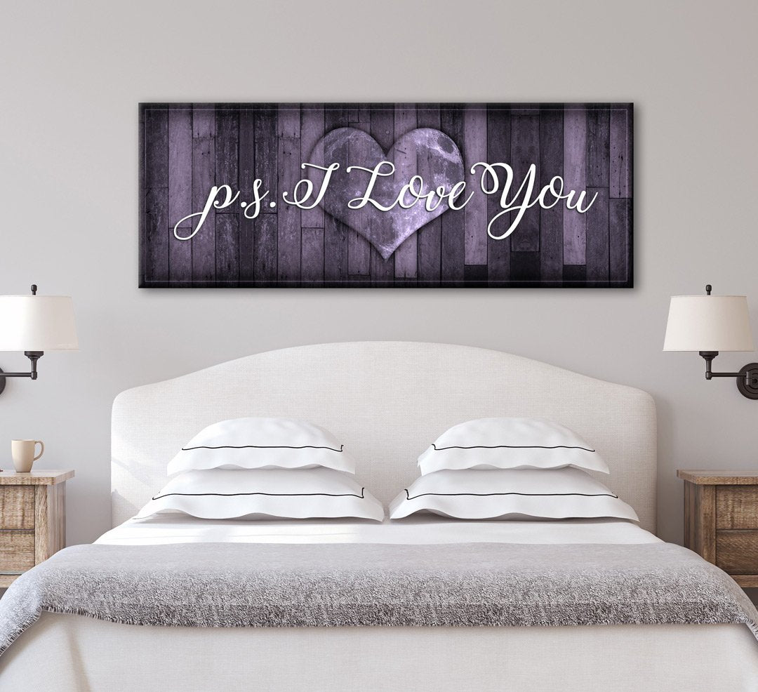 """Love Quotes Wall Art Canvas Wall Art Love Quotes """"p.si Love You""""  All Inspired Art"""