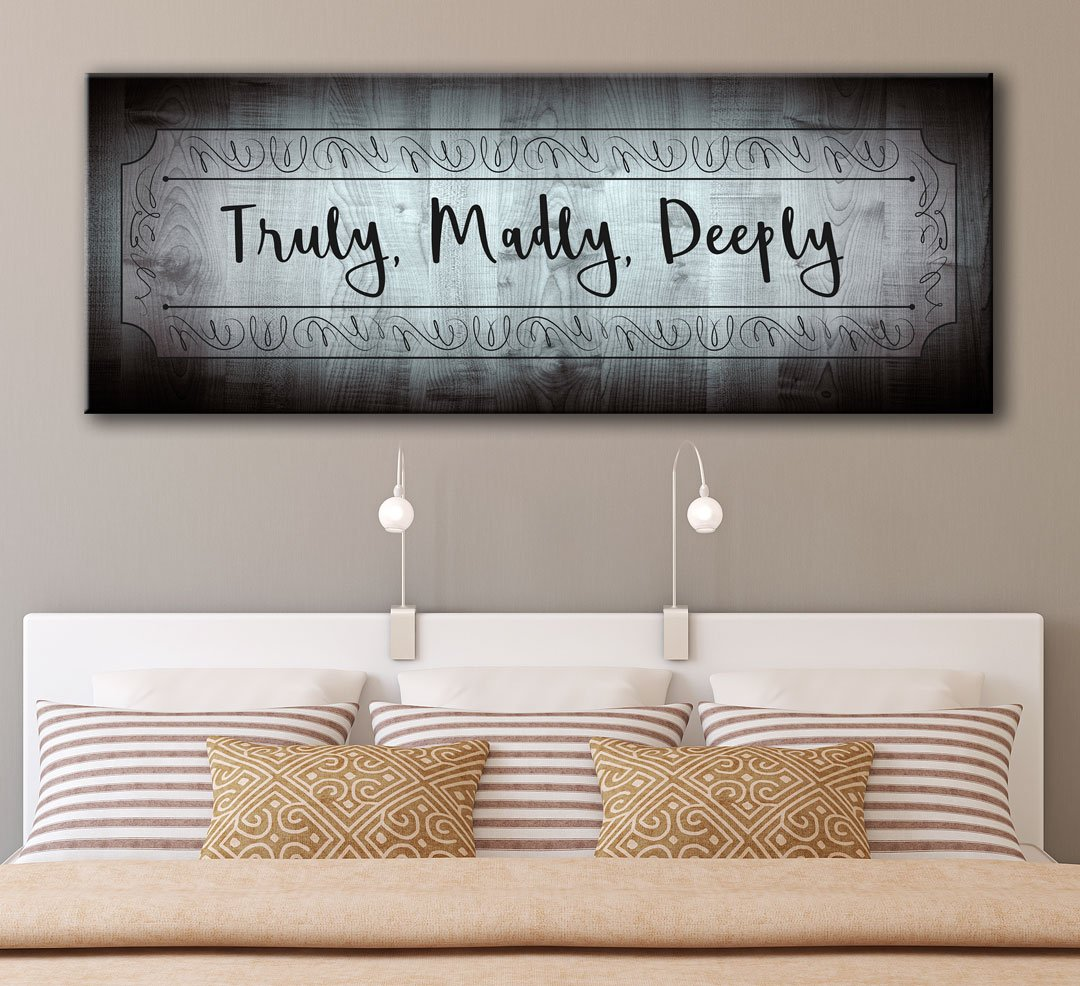 "Love Quotes On Canvas Love Quotes Canvas Art ""truly Madly Deeply""  All Inspired Art"