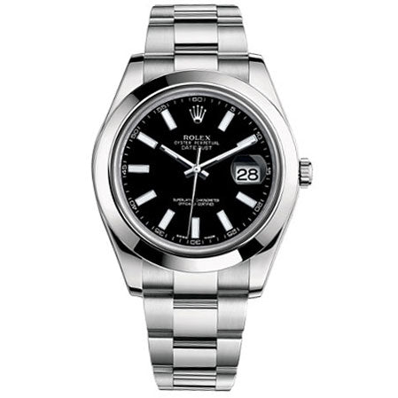 Rolex 116300 Datejust II with Black Stick Dial