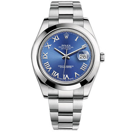 Rolex 116200 Datejust with Blue Roman Dial