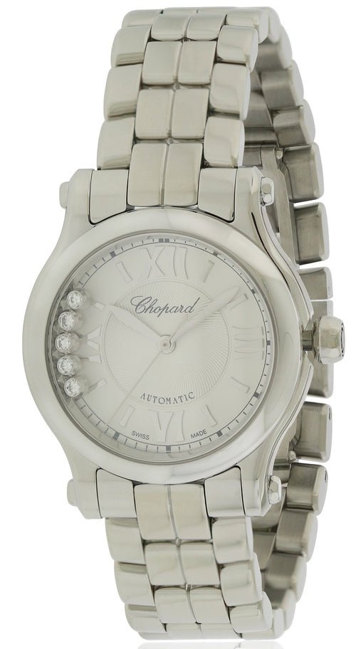 Chopard Happy Sport Diamond Automatic Ladies Watch 278573-3002