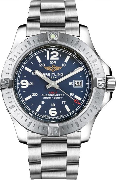 Breitling Colt Stainless Steel Chronometer Mens Watch A7438811/C907