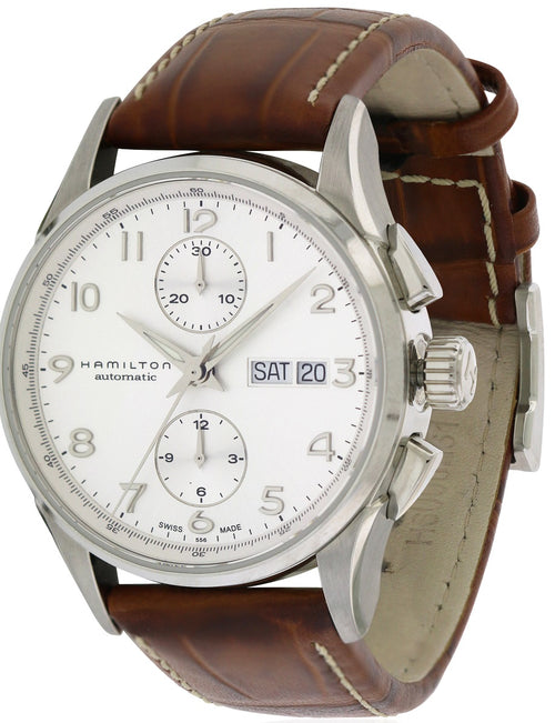 Hamilton Jazzmaster Maestro Automatic Chronograph Leather Mens Watch H32576555