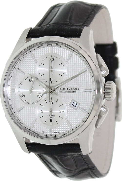 Hamilton Jazzmaster Automatic Leather Chronograph Mens Watch H32596751