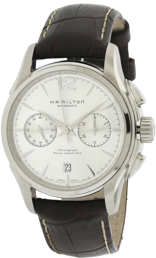 Hamilton American Classic Jazzmaster Chronograph Automatic Leather Mens Watch H32606855
