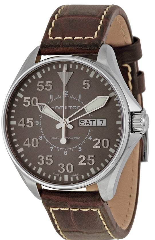 Hamilton Khaki King Pilot Automatic Leather Mens Watch H64425585