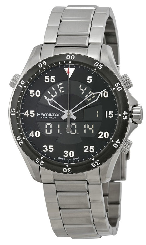 Hamilton Flight Timer Chronograph Stainless Steel Mens Watch H64514181