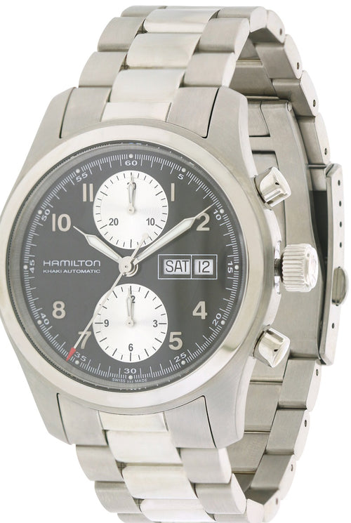 Hamilton Khaki Field Chronograph Automatic Stainless Steel Mens Watch H71566133
