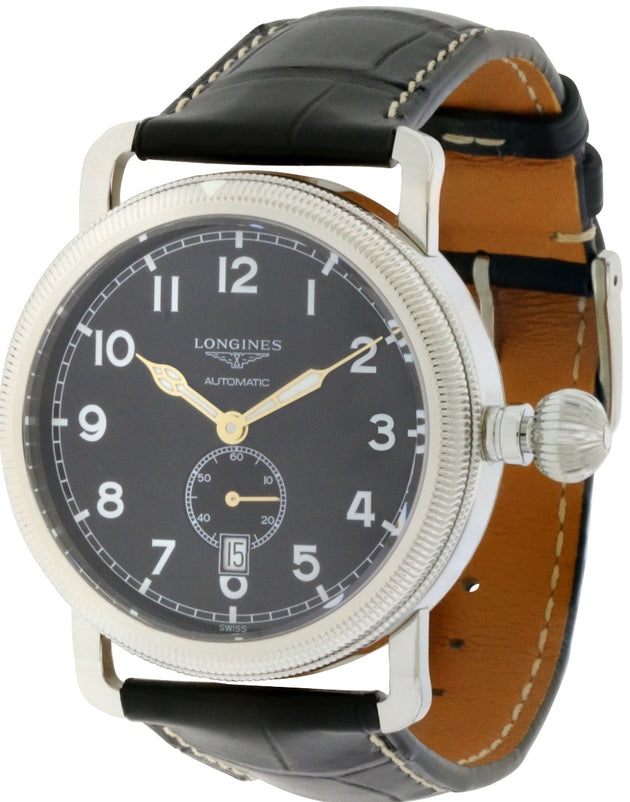 Longines Heritage Avigation Leather Automatic Mens Watch L27774532