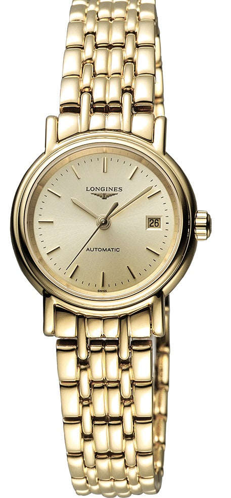 Longines Presence Automatic Gold-Tone Ladies Watch L43212328