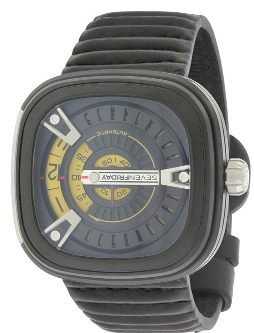 SEVENFRIDAY M Series Automatic Black Leather Mens Watch M2-1