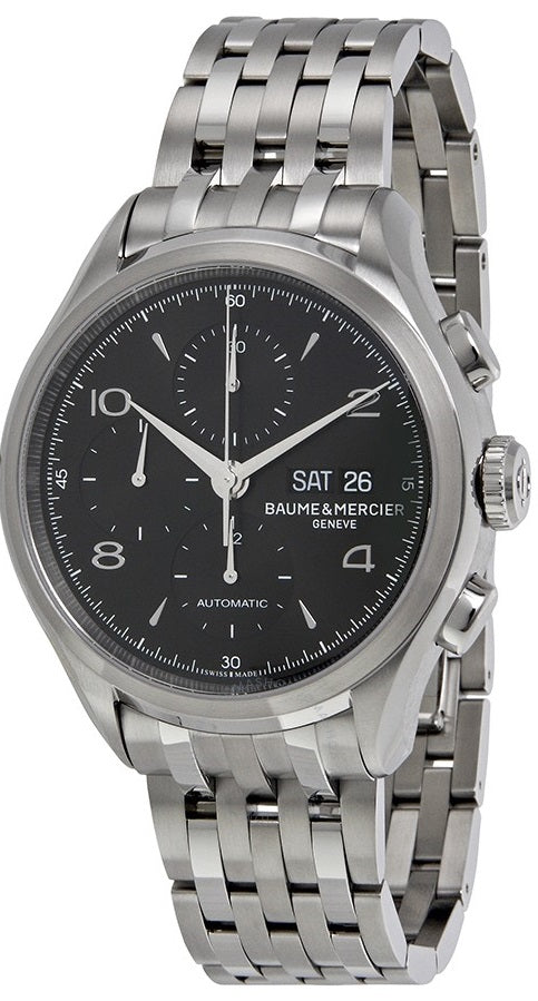 Baume and Mercier Clifton Stainless Steel Chronograph Automatic Mens Watch MOA10212