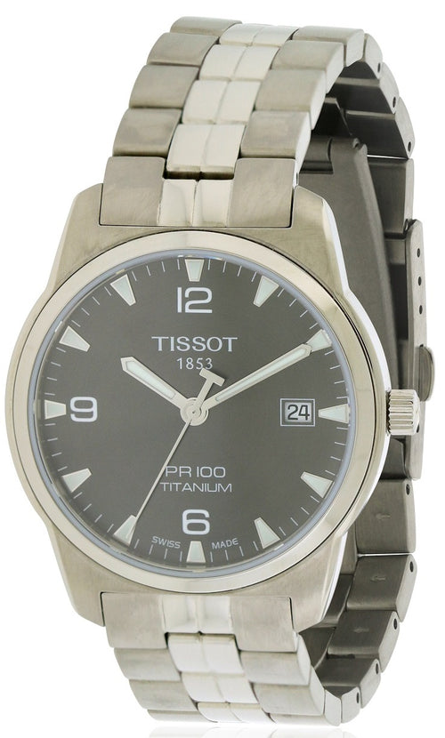 Tissot PR100 Titanium Mens   Watch T0494104406700