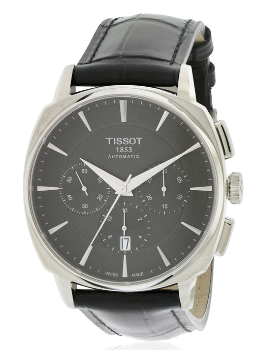 Tissot T-Lord Automatic Chronograph Leather Mens Watch T0595271605100