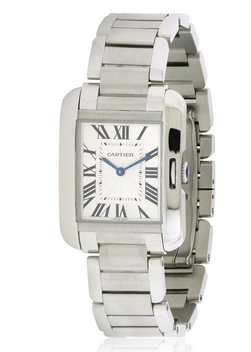 Cartier Tank Anglaise Stainless Steel Automatic Ladies Watch W5310044
