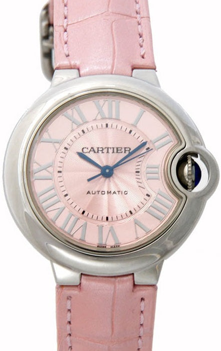 Cartier Ballon Bleu Leather Automatic Ladies Watch WSBB0007