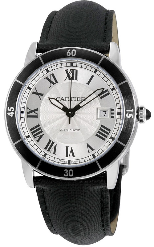 Cartier Ronde De Croisier Leather Automatic Mens Watch WSRN0002