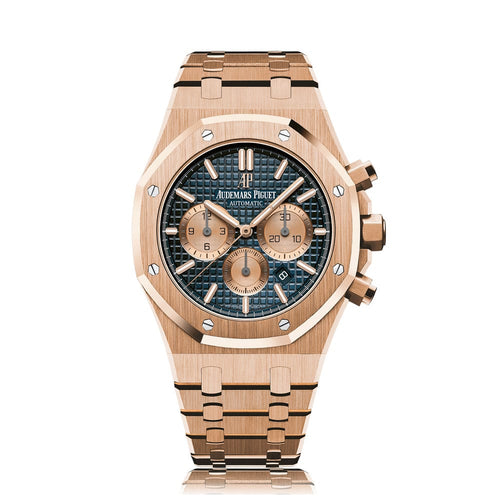 Audemars Piguet Royal Oak Chronograph 18K Rose Gold with Blue Dial (New Model- 2017)