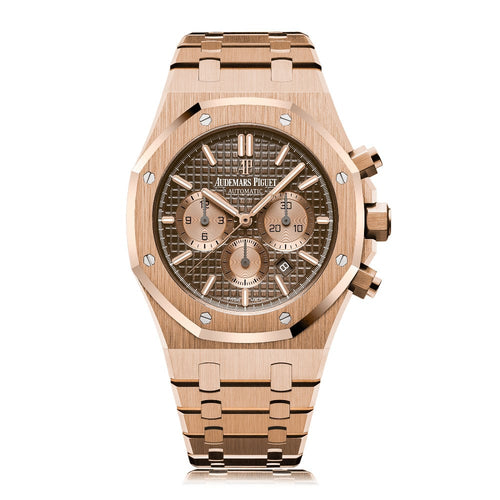 Audemars Piguet Royal Oak Chronograph 18K Rose Gold with Havana Brown Dial