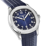 Patek Philippe Aquanaut 18K White Gold with Blue Dial (New Release)